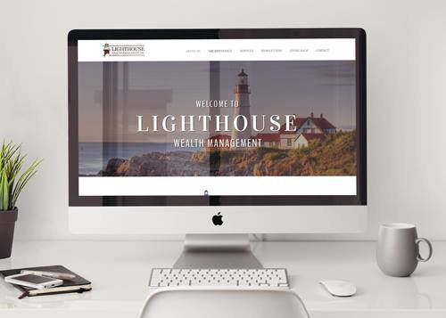 website designed for Lighthouse Wealth Management