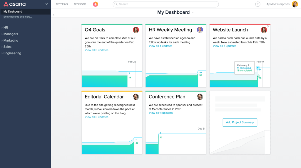 Asana is a great project management tool with a beautiful interface design.