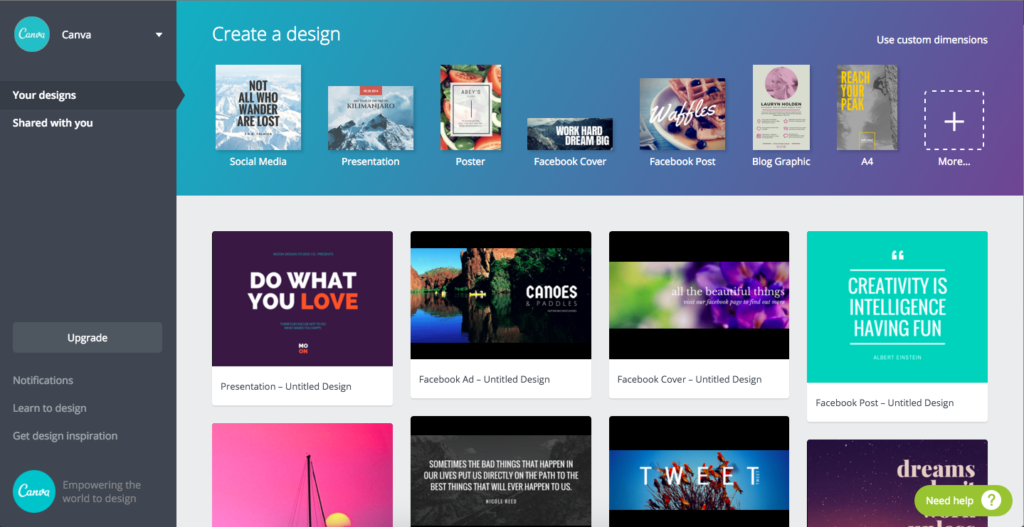 Canva helps you look great!